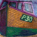 All washed up - detail of wooden fishing boat