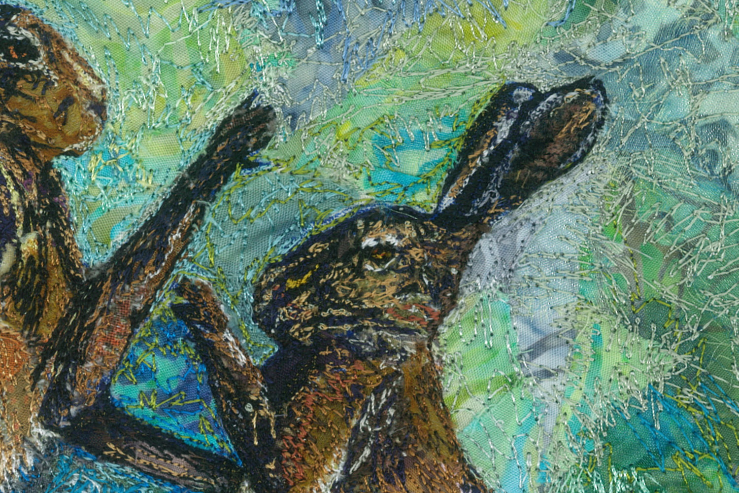 Boxing Hares detail